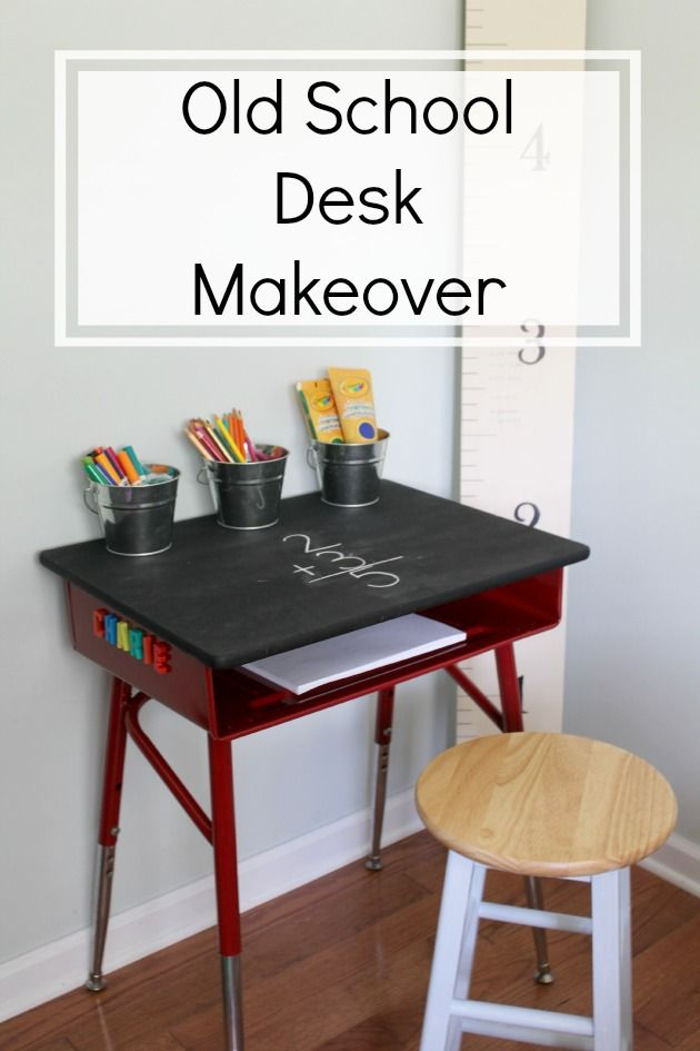 Old schools desk makeover