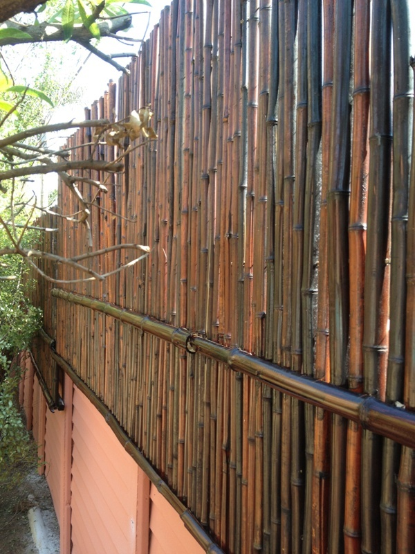 Quot Mosso Quot Bamboo Wall Extension Done With Mahogany Bamboo