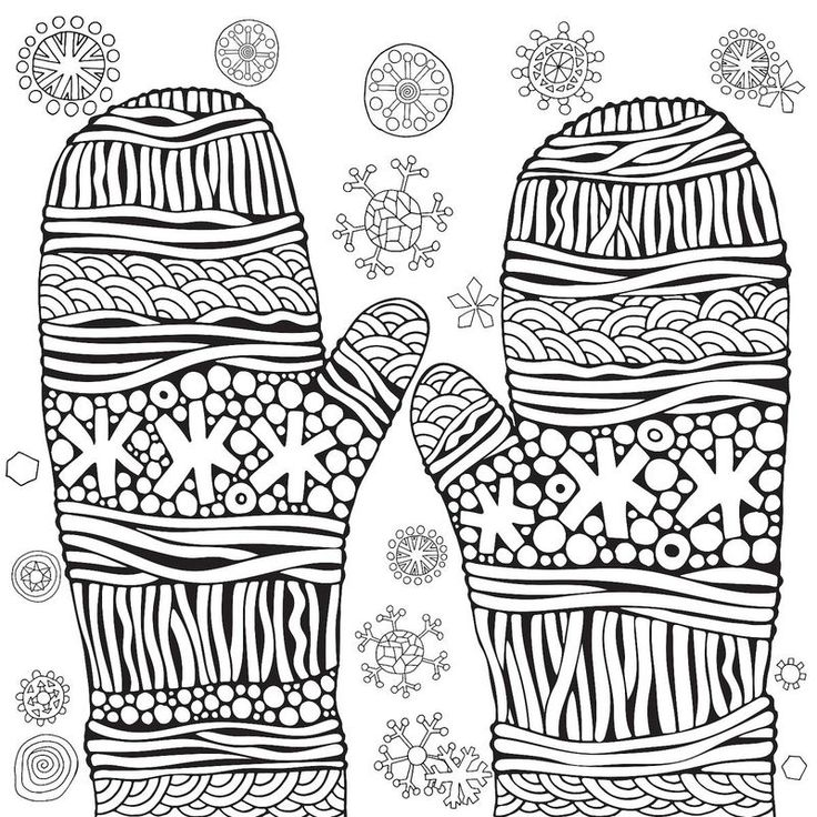 Winter Mittens Coloring Page di 2020
