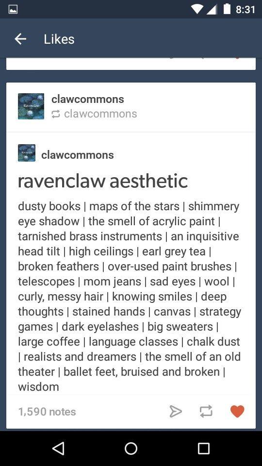 Ravenclaw aesthetic                                                       …