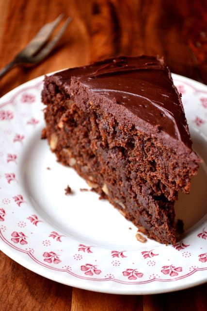 Chocolate Courgette Cake - simply because we have courgettes coming out of our ears in the garden!