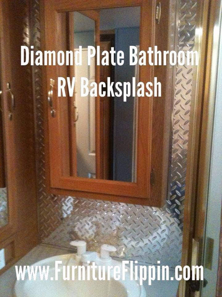 Rv Bathroom Paneling Updating Our Rv S Bathroom Backsplash With Fasade
