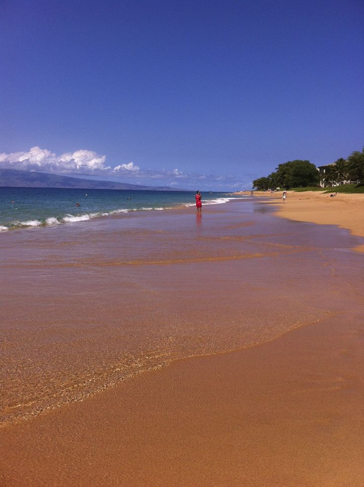 Private beach at Kahana Sands, Maui