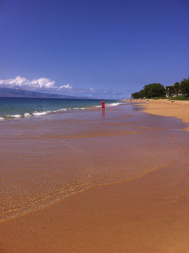 Private beach at Kahana Sands, Maui