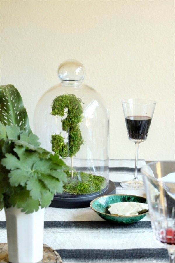 Table Number - Moss Wedding Decor