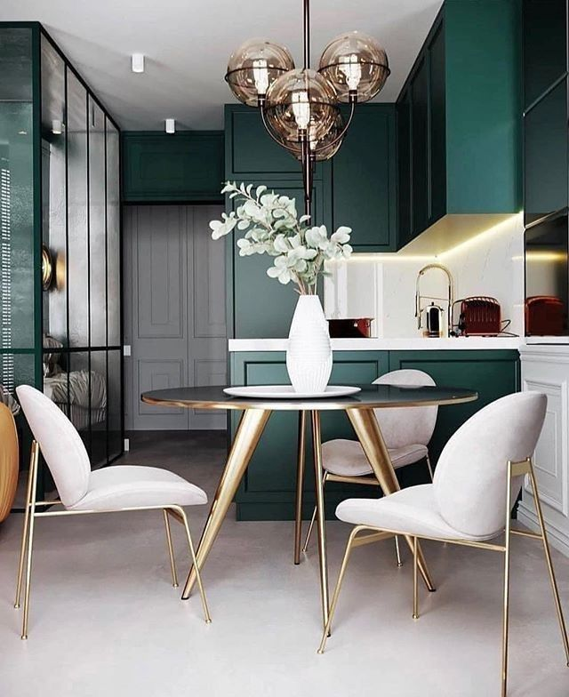 Home Interior Design Love The Green And White Contrast Dining