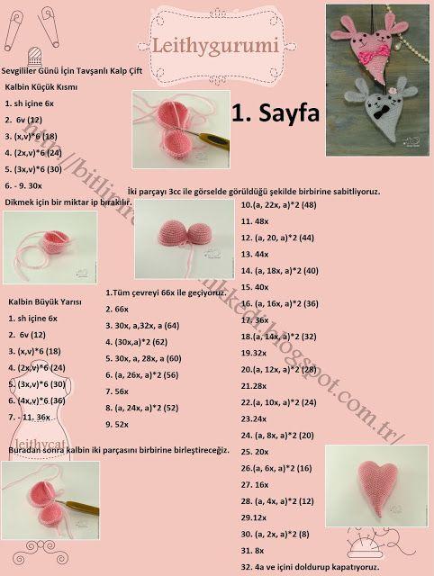 PARANOYAK SATIRLAR: Sevgililer Gününe Özel Amigurumi Tavşanlı Kalp Çift