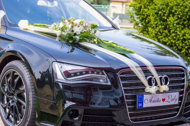 Audi A8, krásne, luxusné, svadobné.