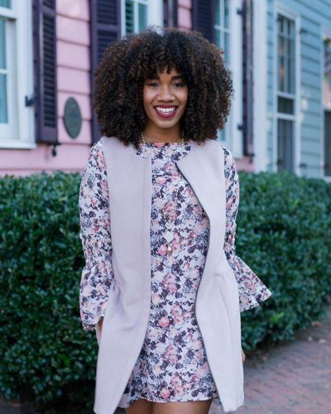 PROFILE: Lindsey Gene • Texture: Curly • Length: Long • Volume: Thick • Favorite Hairstyles: Big Afro • Favorite Products: Devacurl's Decadence Shampoo and Conditioner, Deep Sea Repair Mask, Coconut Style Cream, and Light Gel.