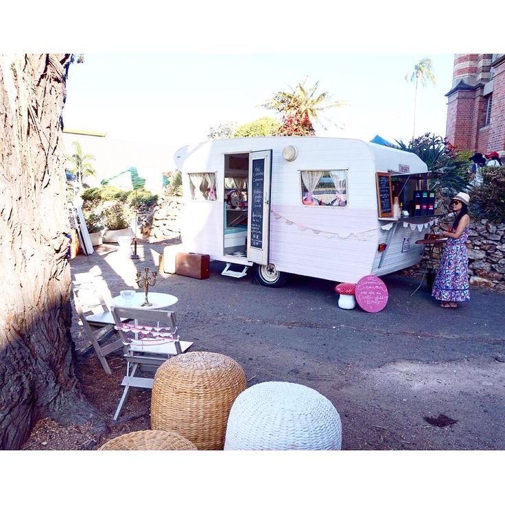 Peggy Sue The Curious Caravan at The Old Museum in #Brisbane... #confettifair #briswed #partyplanner #theoldmuseum #brisbanevenue #vintagecaravan #caravancafe