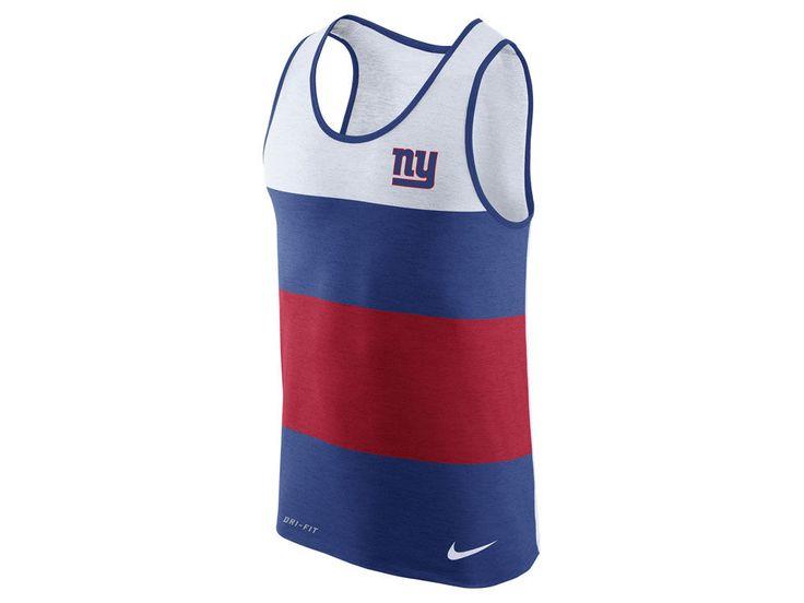 New York Giants Nike NFL Men's Wide Stripe Tank