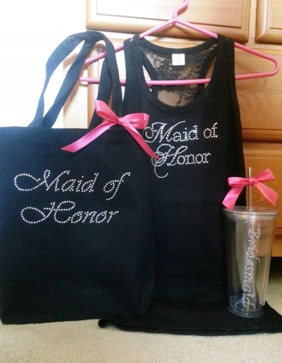 Ultimate Maid of Honor Bridesmaid Emergency Kit - Set includes Tank Top, Bag and Tumbler with Essentials on Etsy, $84.80 CAD