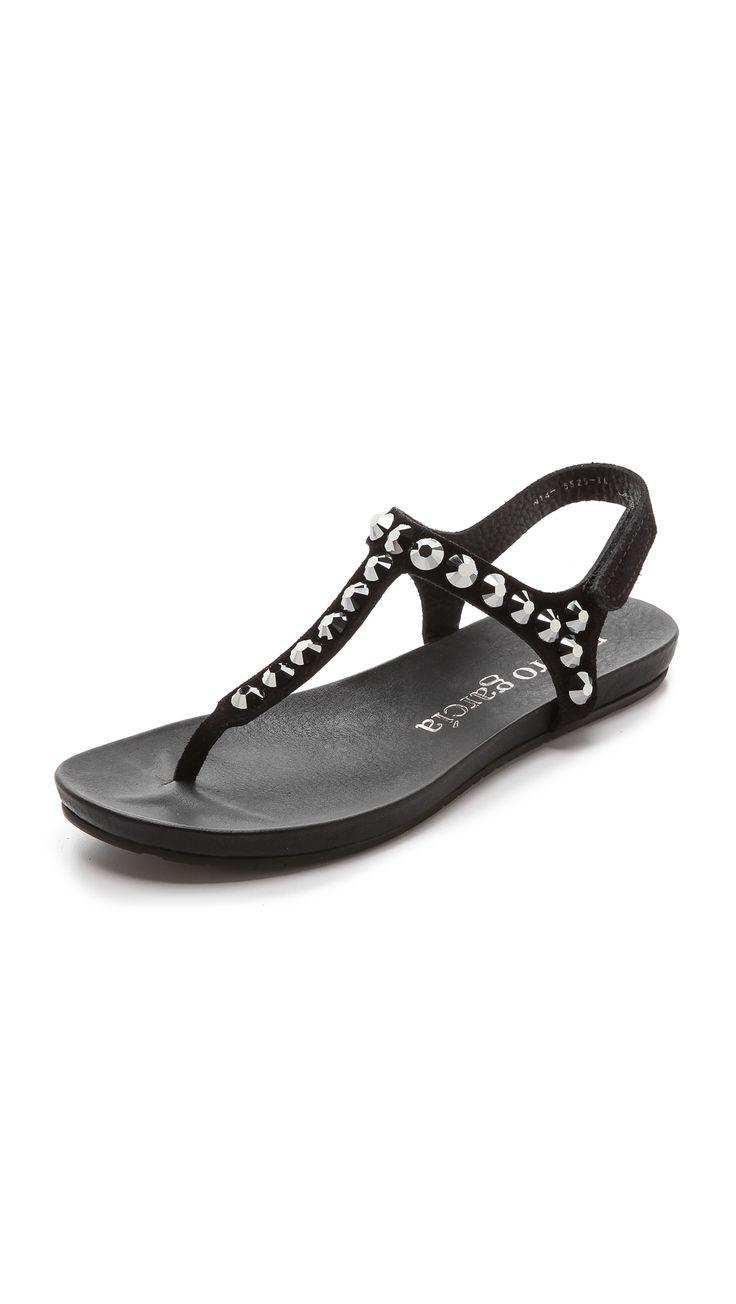 Pedro Garcia Judith Suede T Strap Sandals