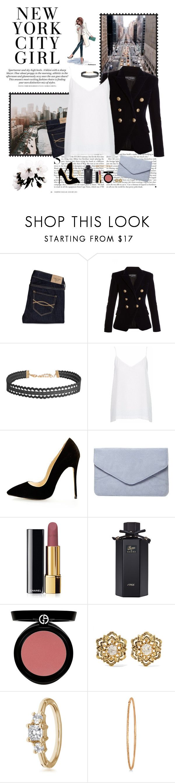 """""""New York City Dreaming ♥ ♥"""" by allweknowisfalling ❤ liked on Polyvore featuring Kershaw, Paul Frank, Abercrombie & Fitch, Balmain, Humble Chic, Storm & Marie, Dorothy Perkins, Chanel, Gucci and Giorgio Armani"""