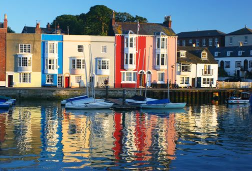 Inspiration: The Tranquil Pastels of a Seaside Town - Weymouth Harbour on The Chromologist