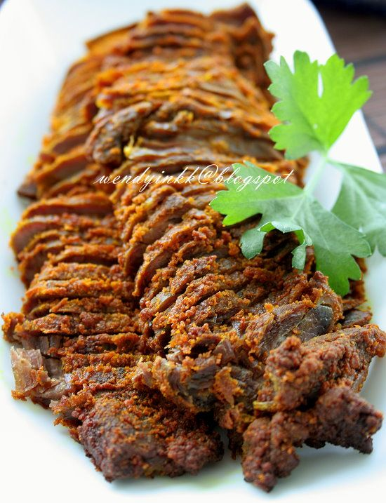 Turmeric Roasted Beef~Daging Pacak