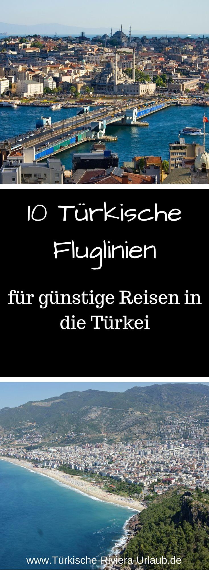 10 Türkische Airlines die dich günstig in den Sommer bringen findest du in dieser Liste auf http://www.tuerkische-riviera-urlaub.de/tuerkische-airlines/. Es sind nämlich nicht alle Billigfluglinien in den gängigen Suchportalen vertreten. Durch den Vergleich mit den verschiedenen Airlines in meiner Liste kannst du ein wenig Geld sparen.