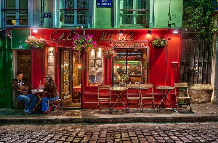 Le restaurant chez marie rue gabrielle montmartre for Le miroir restaurant montmartre