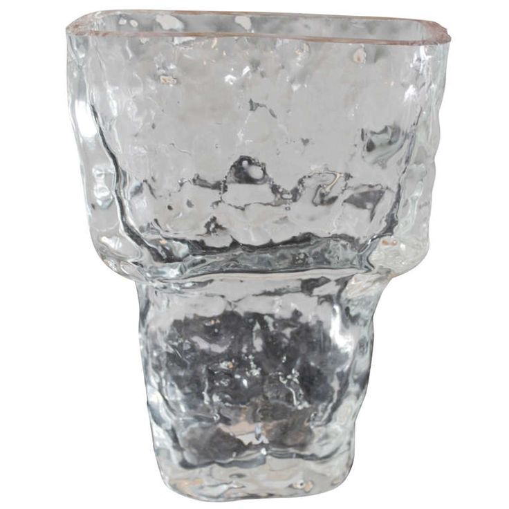 Tapio Wirkkala Glass Icicle Vase | See more antique and modern Vases and Vessels at https://www.1stdibs.com/furniture/decorative-objects/vases-vessels