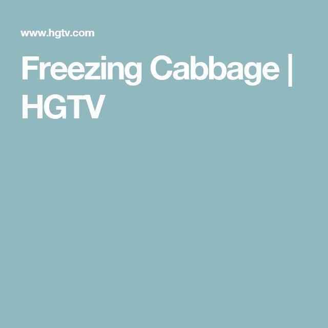 Freezing Cabbage | HGTV