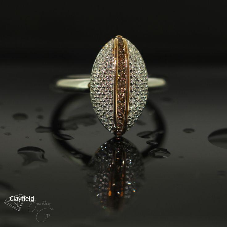 Striking cognac or chocoalte diamond ring, by Clayfield Jewellery in Nundah Village - North Brisbane