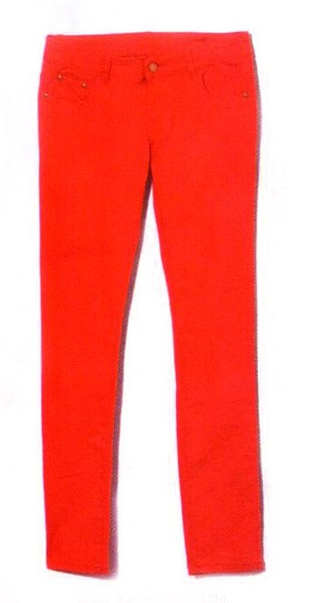 Red Jeans by Alibi. As seen in March issue of Shop, now: $49.95  #red jeans #fashion #statement
