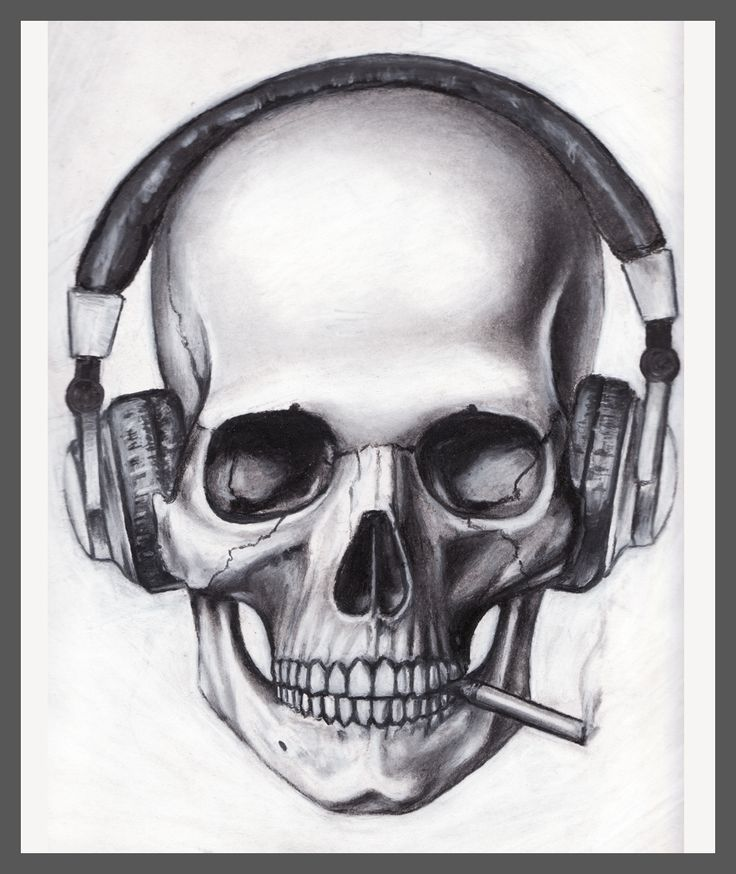Skull with music