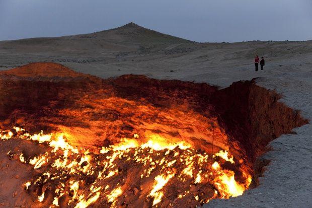 The Door to Hell in Turkmenistan.