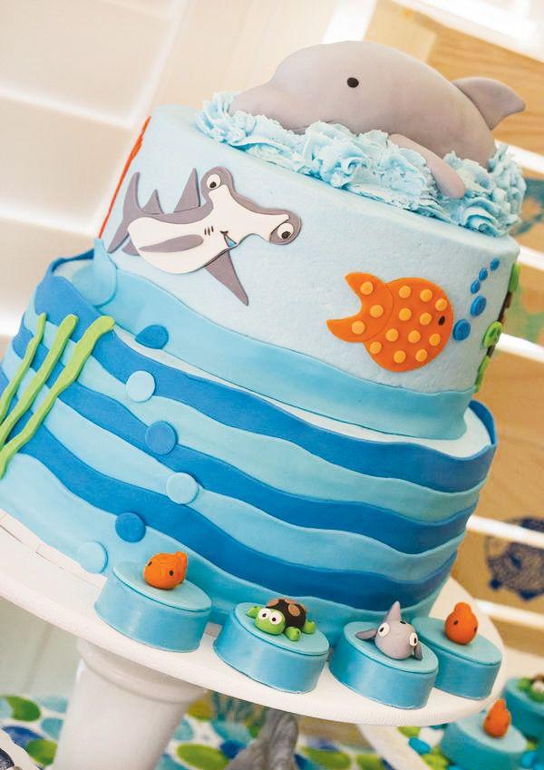 Bright & Bubbly Sea Creature Birthday Party                                                                                                                                                                                 Mais