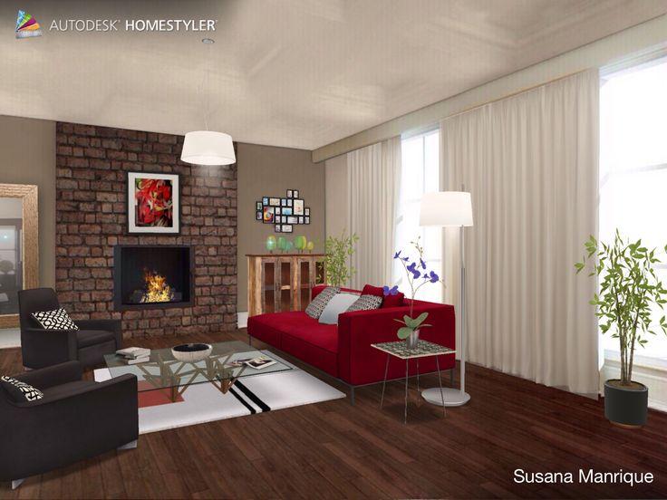 "Eche un vistazo a mi #diseño interior ""sala 11"" de #Homestyler http://www.homestyler.com/mobile"
