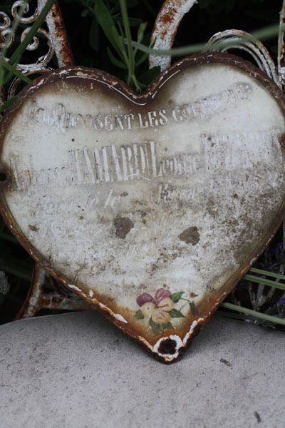 old french metal heart from the early 1900
