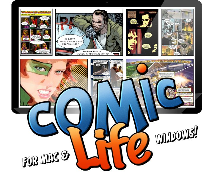 Presenting Comic Life from plasq, for Mac and Windows