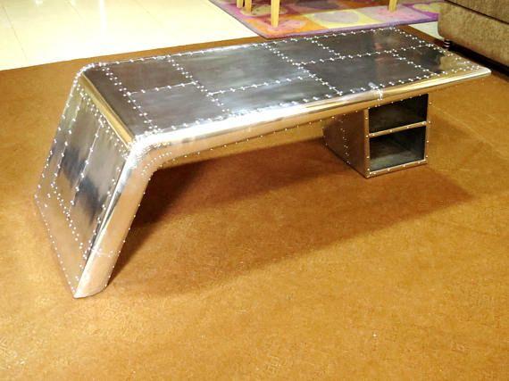 aviator wings desk coffee table aluminum furniture