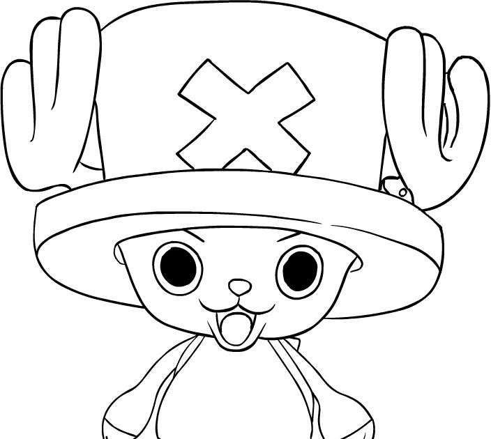 One Piece Chopper Coloring Pages One Piece Chopper Coloring Pages