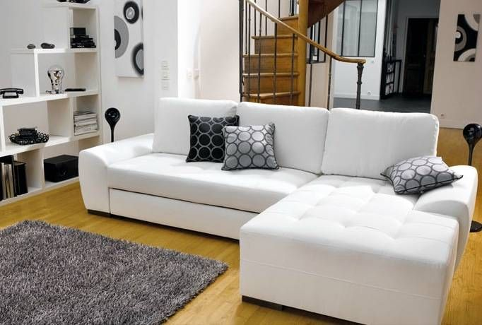 Canape Cuir Blanc Conforama Canape Conforama Cuir Blanc Angle Droit Convertible Photo In 2020 Home Decor Home Sectional Couch