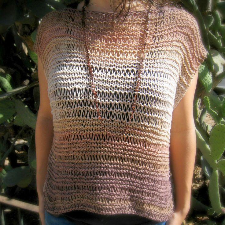 sueter de punto verano, tutorial sueter de punto, tutorial punto, belice de katia, ideas punto verano, alsolamano, knit tutorial