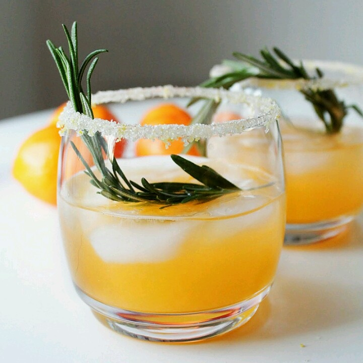 Citrus winter cocktail to brighten a dreary day.