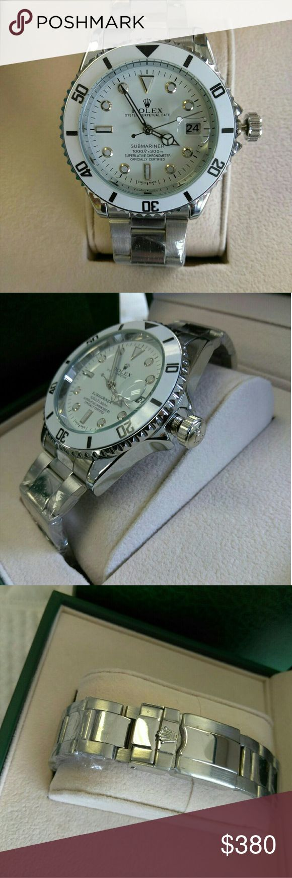 Rolex white face women watch New automatic. No battery need sweep second hand. Rolex Other