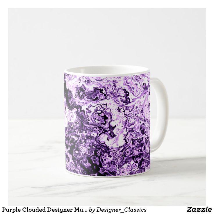 Purple Clouded Designer Mug 5