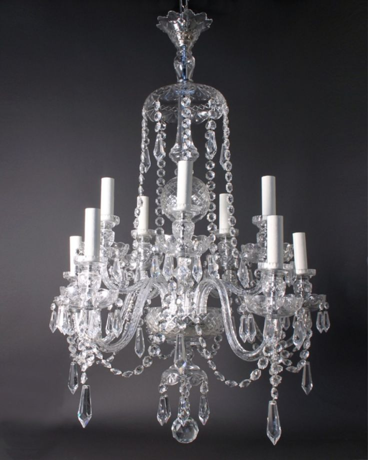 Antique crystal chandeliers in interior decor home with for Chandelier mural antique