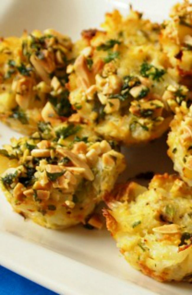 Cauliflower Kugel Bites  A healthy recipe for this Jewish comfort food