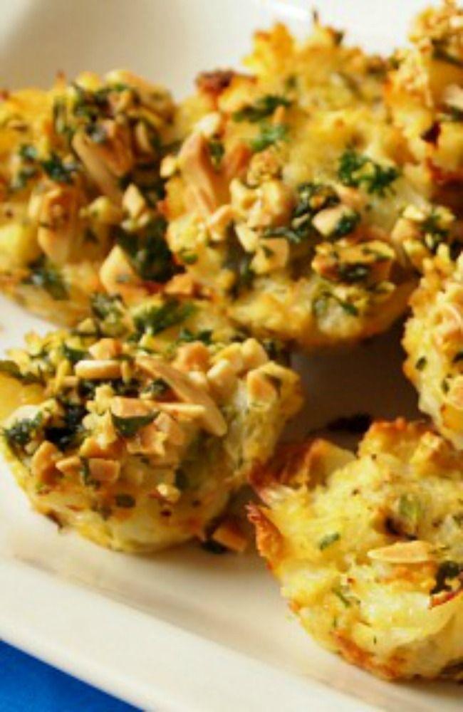 Cauliflower Kugel Bites  A healthy recipe for this Jewish comfort food