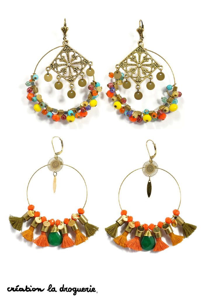 Des BO aux couleurs solaires, elles sont parfaites pour cet été !! #ladroguerie #bijoux #bo