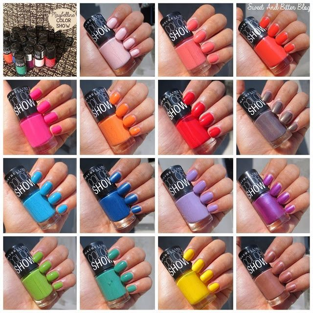 Sweet and Bitter - An Indian Makeup and Beauty Blog: Maybelline Color Show Nail Polish in India Swatches - 15 (and More)