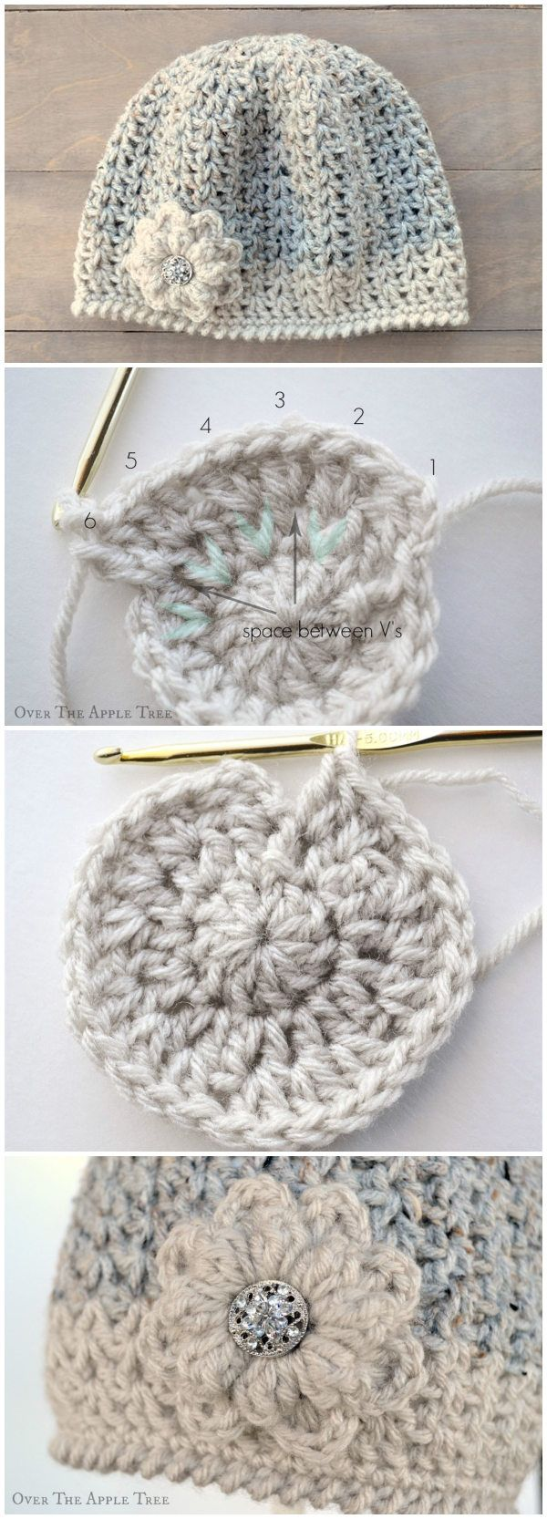 228 best gorros images on Pinterest | Crocheted baby hats, Crocheted ...