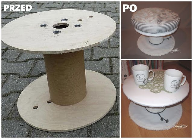 """""""12 Projects for Home"""" 2nd edition. Project by Ela (http://elau66wr.blogspot.com). Upcycled cable spool"""
