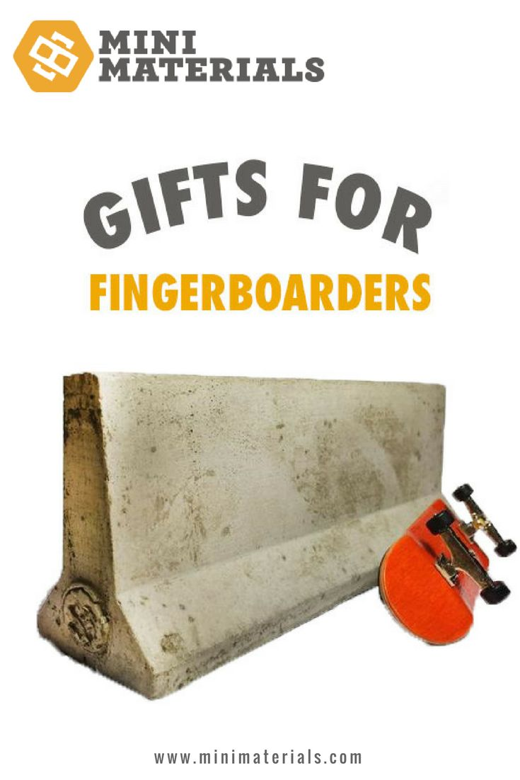 Mini Materials Blog   Cool gifts for the fingerboarding pros: fingerboard ledge kit, jersey barriers, parking curbs, miniature traffic cones, miniature wood barrels