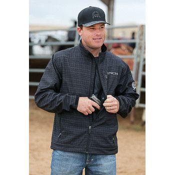 Cinch Men's Black Plaid Concealed Carry Jacket