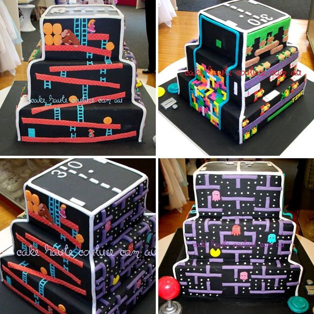 Four Video Games on One Cake