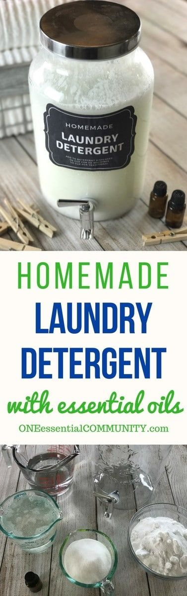 Homemade HE liquid laundry detergent recipe with essential oils. natural, non-toxic